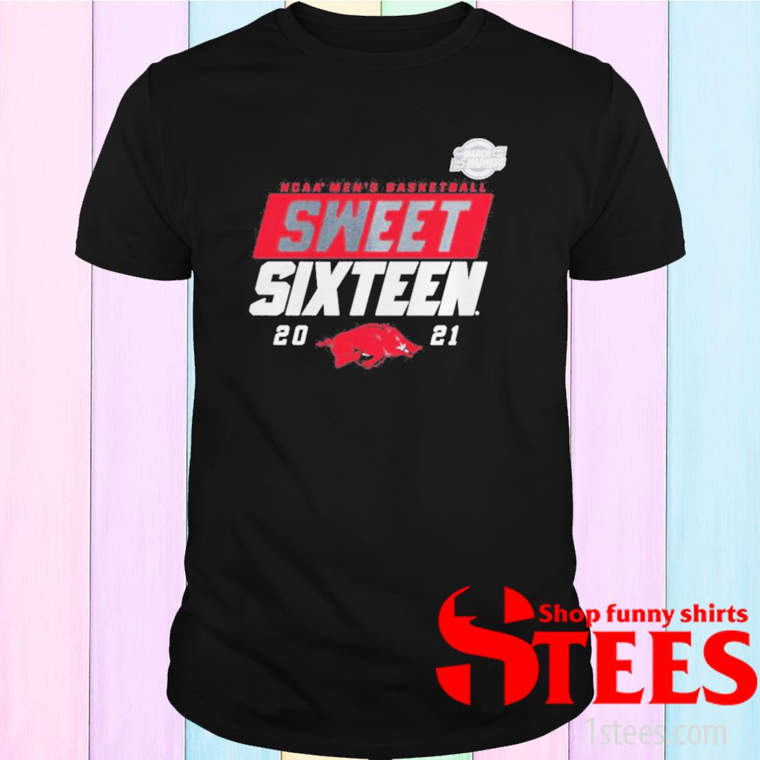 Arkansas Razorbacks 2021 Ncaa Men's Basketball Sweet Sixteen T-Shirt