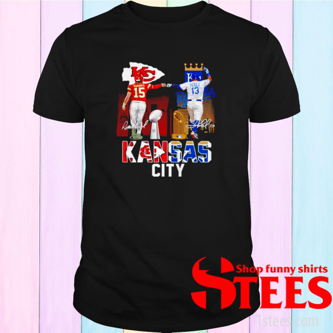 Patrick Mahomes Kc Chiefs And Salvador Pérez Kc Royals Signature Shirt