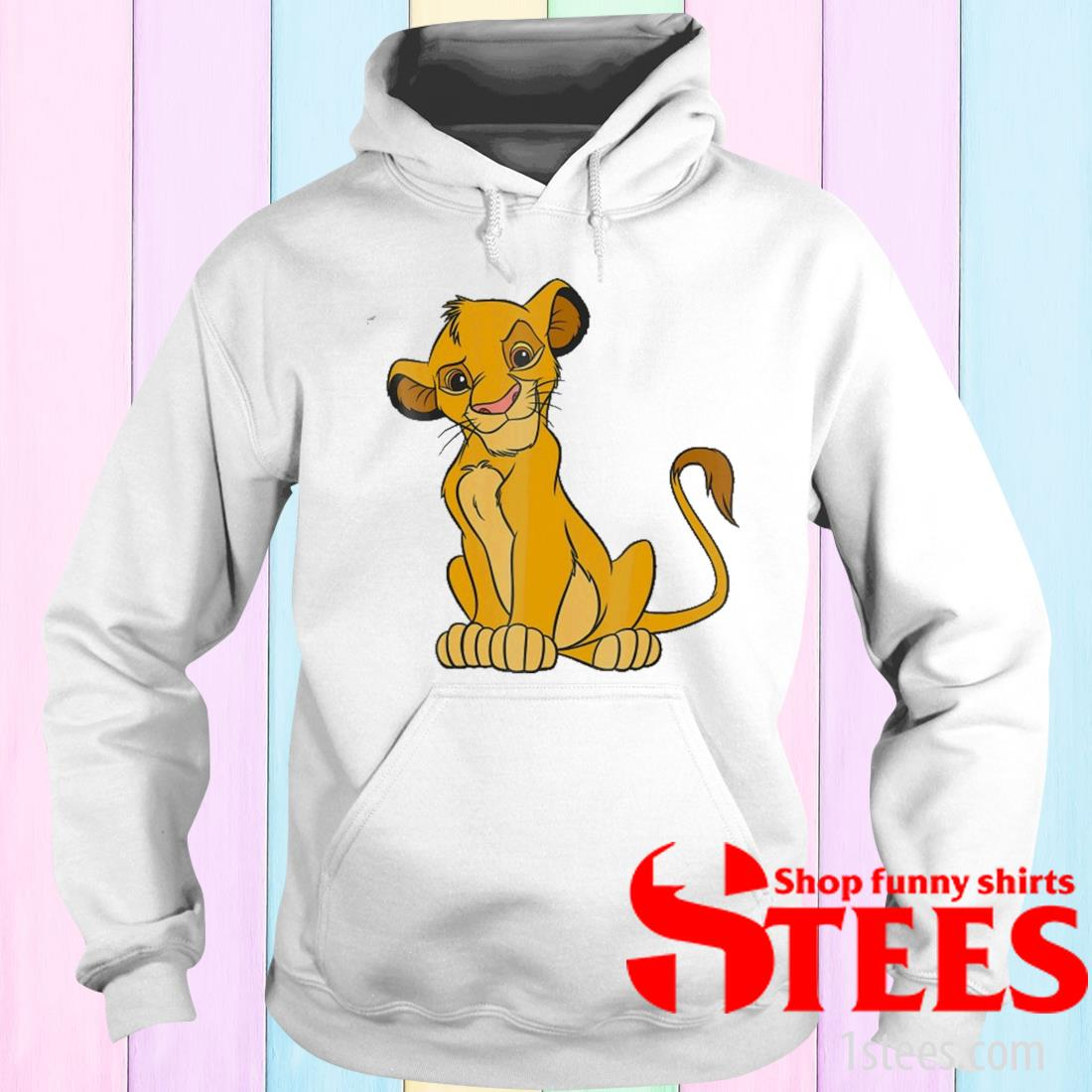 The Lion King Young Simba Sitting Up Shirt hoodie