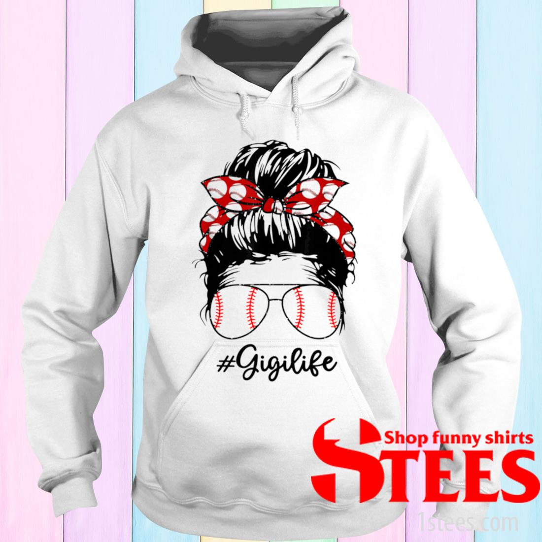 Bun Hair Softball Guigi Lifes With Sunglasses Shirt hoodie