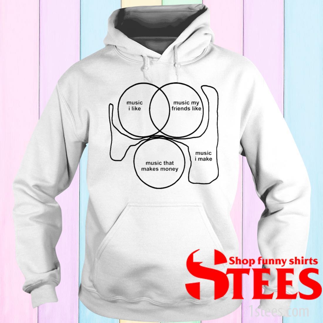 Music I Like Music My Friends Like Music That Makes Money Music I Make Shirt hoodie