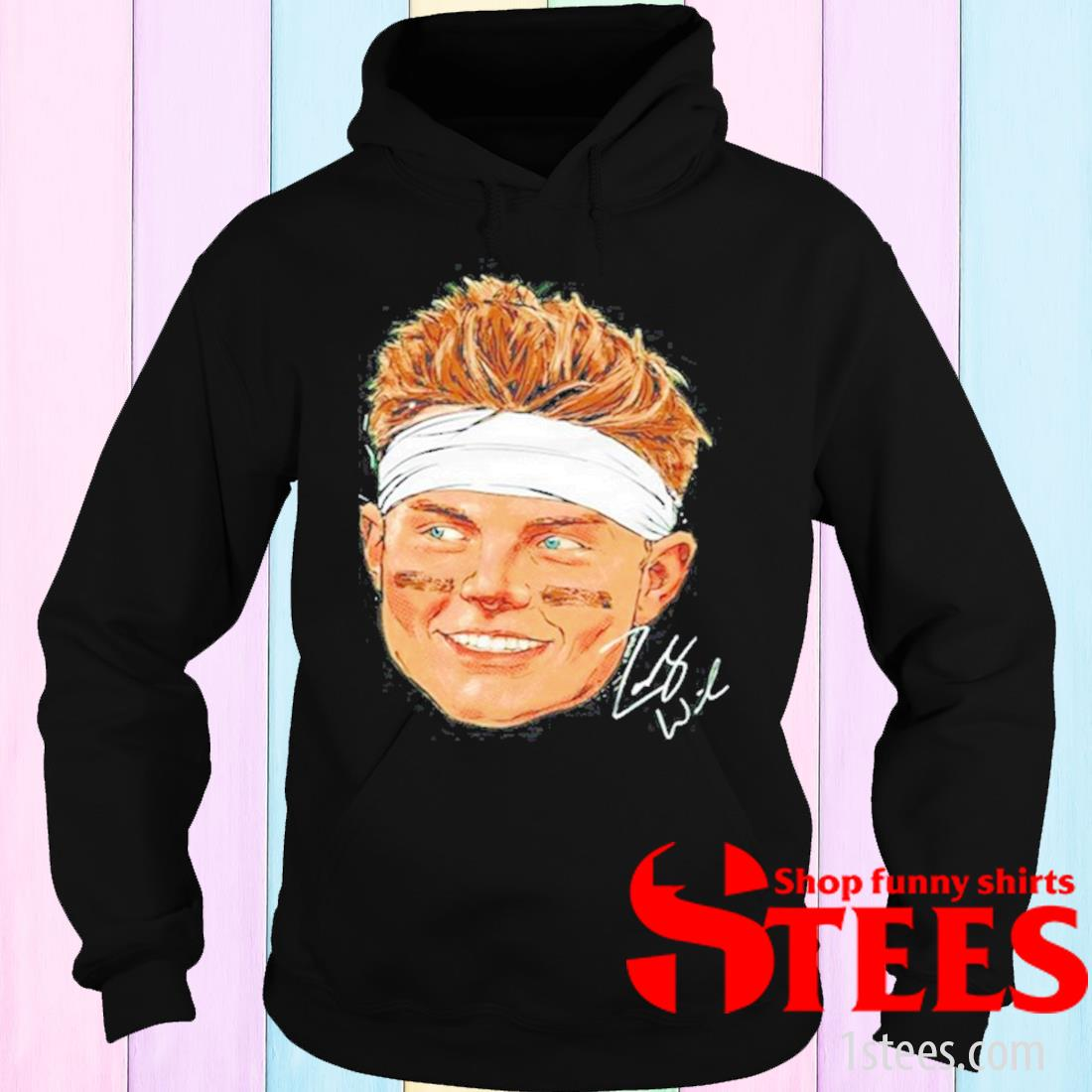 New York Football Zach Wilson Portrait Signature Shirt hoodie