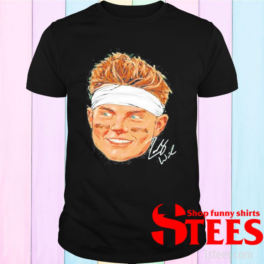 New York Football Zach Wilson Portrait Signature Shirt