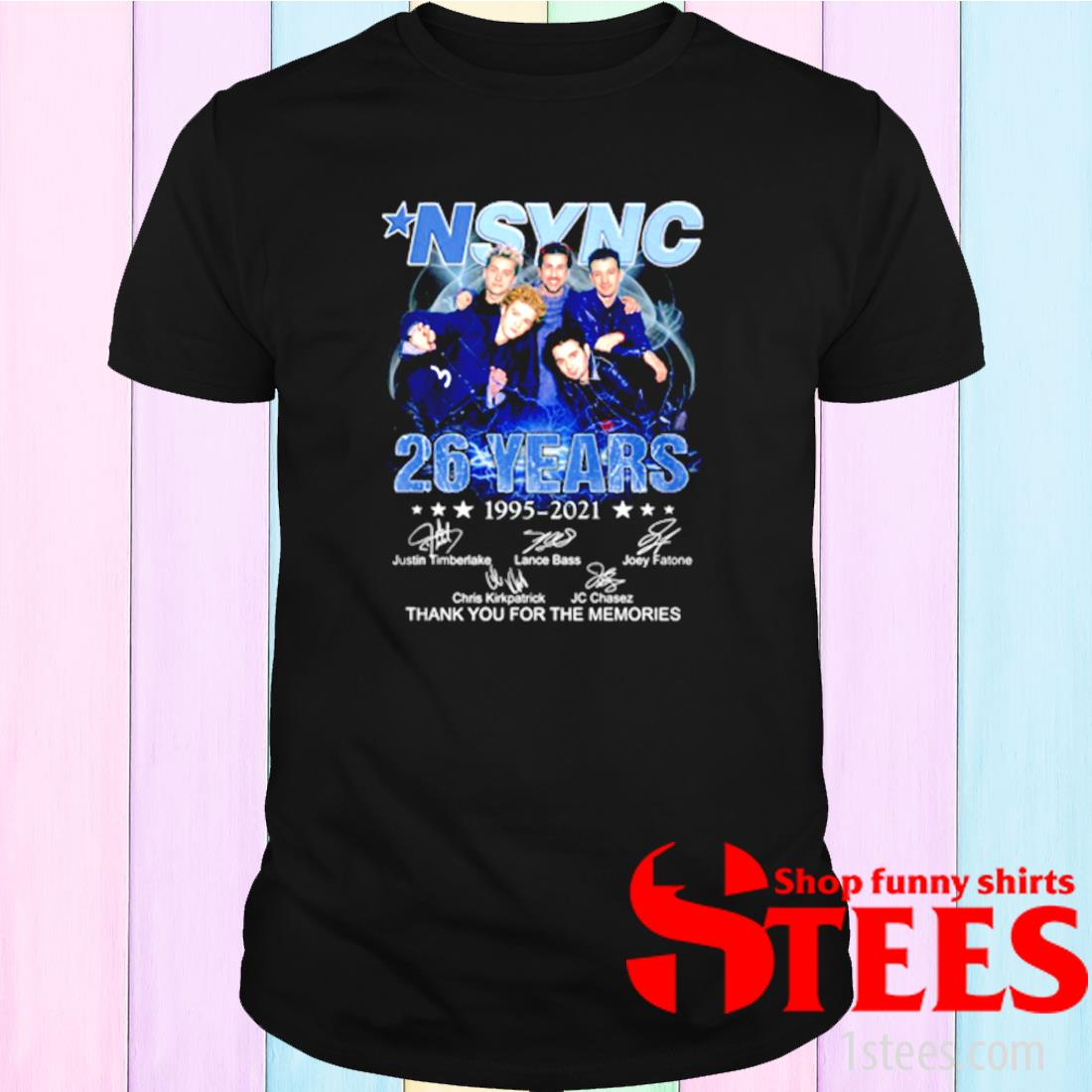 Nsync 26 Years 1995-2021 Thank You For The Memories Signature Shirt