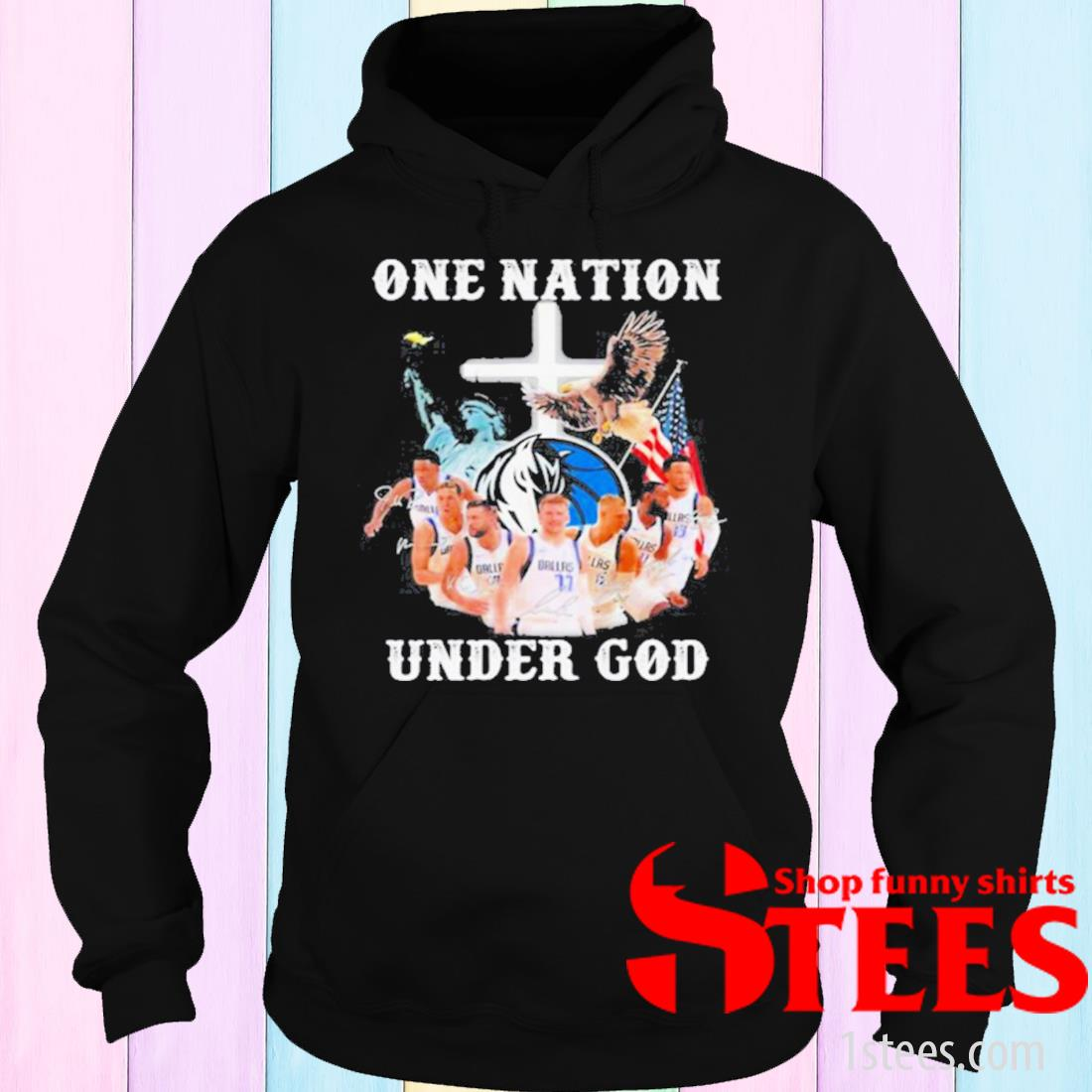 One Nation Under God Dallas Cowboys Signature Shirt hoodie