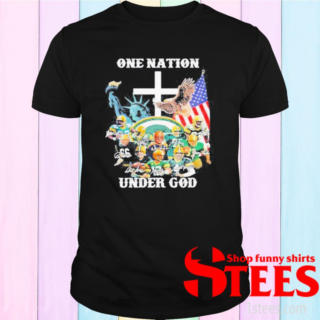 One Nation Under God Green Bay Packers Signature Shirt