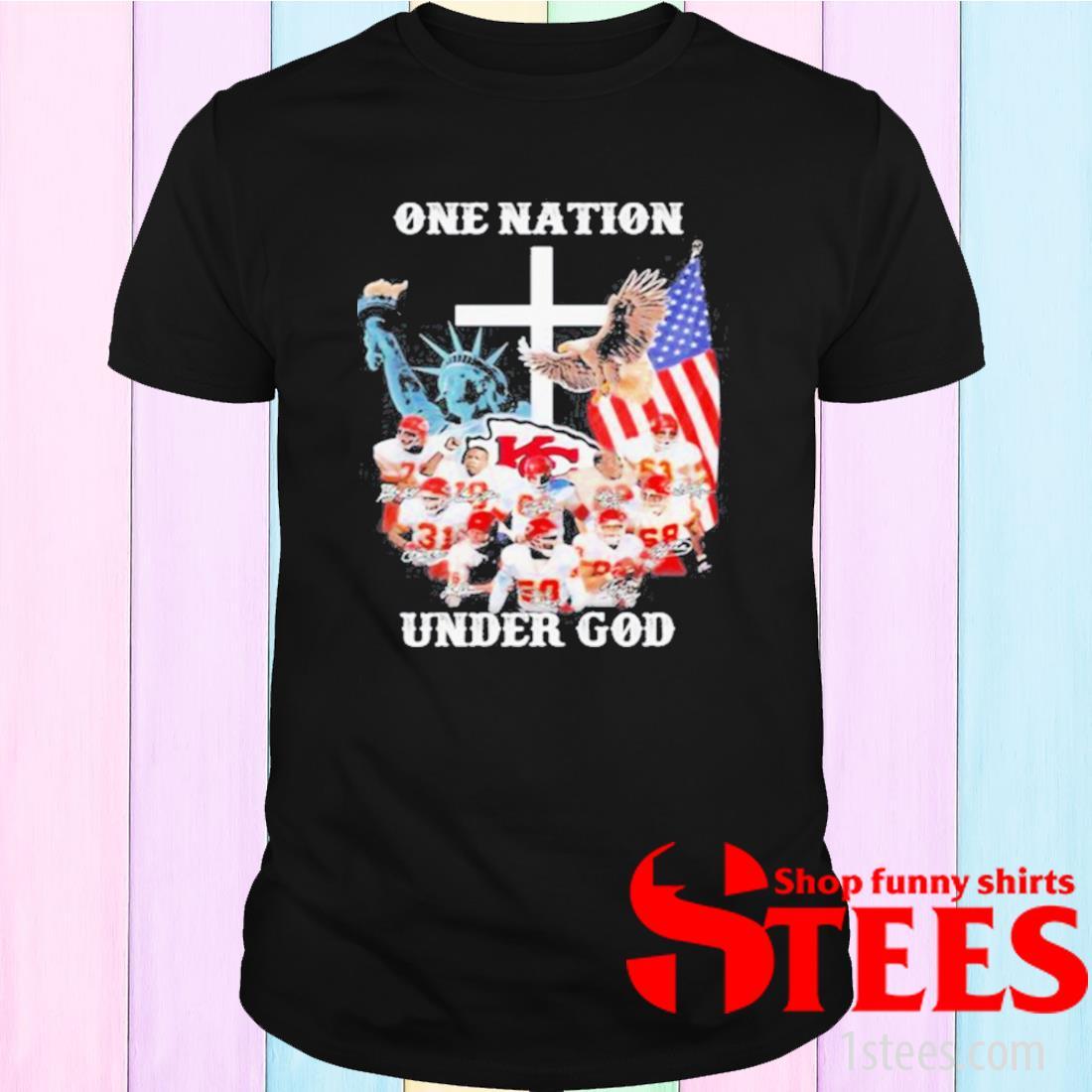 One Nation Under God Kansas City Chiefs Signature Shirt