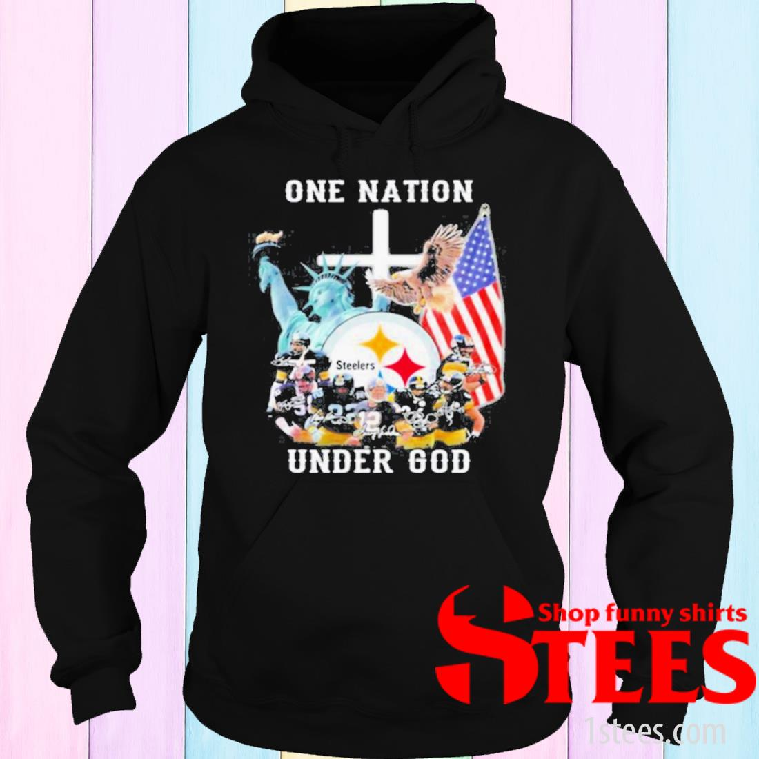 One Nation Under God Pittsburgh Steelers Shirt hoodie