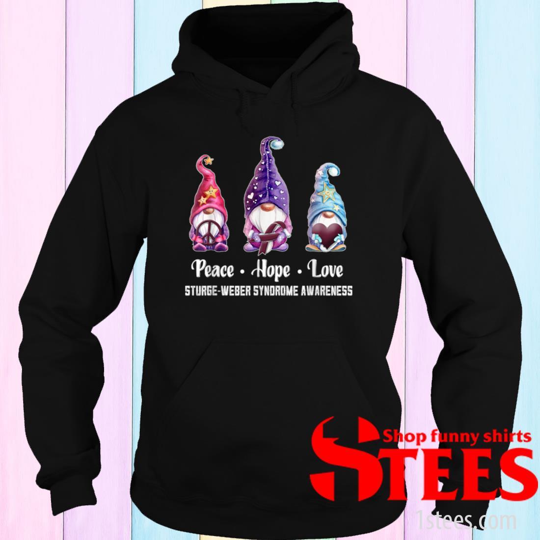 Peace Hope Love Gnomes Progressive Supranuclear Palsy Shirt hoodie