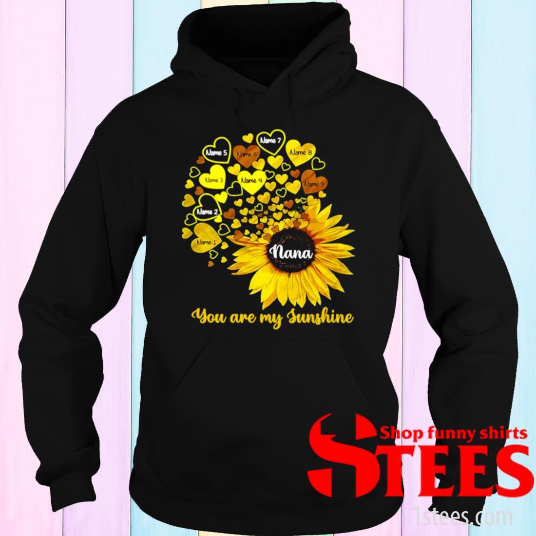 Personalized Mom Grandma Little Sunshine Shirt hoodie