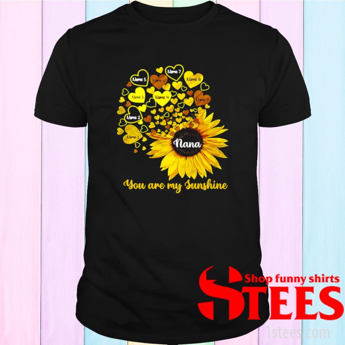 Personalized Mom Grandma Little Sunshine Shirt