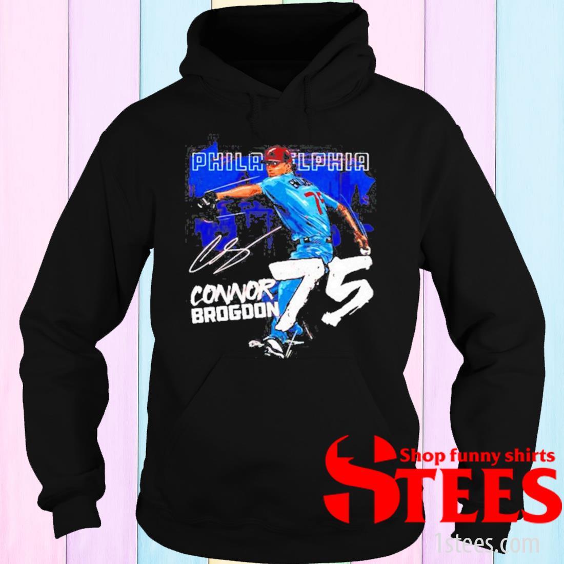 Philadelphia Baseball Connor Brogdon 75 Signature Shirt hoodie