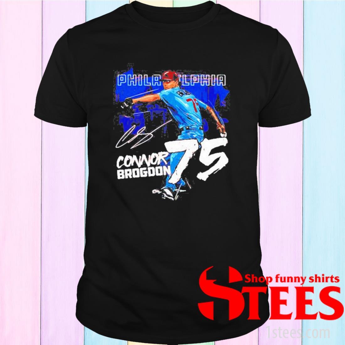 Philadelphia Baseball Connor Brogdon 75 Signature Shirt