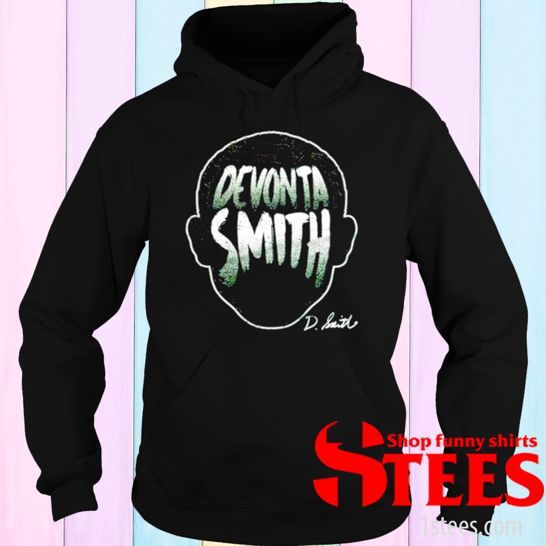 Philadelphia Football Devonta Smith Player Silhouette Signature Shirt hoodie