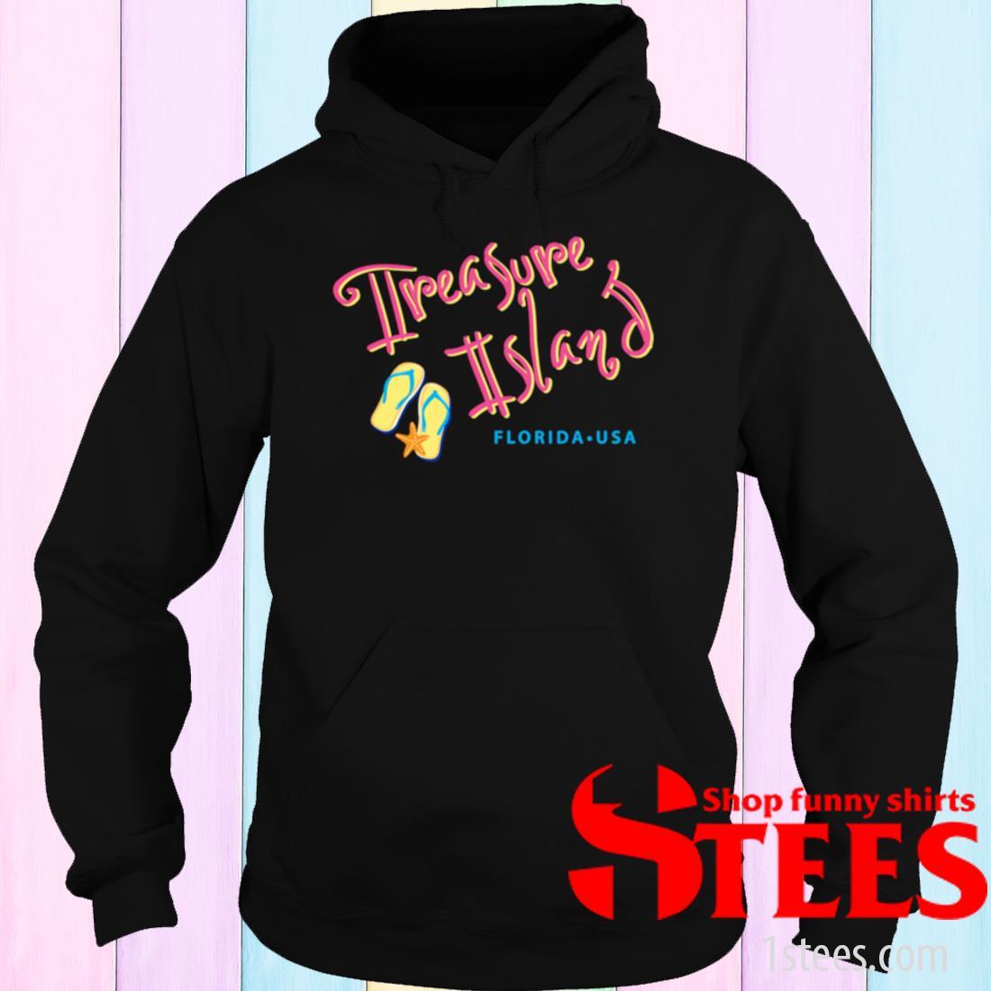 Treasure Island Florida Tropical Souvenir Shirt hoodie