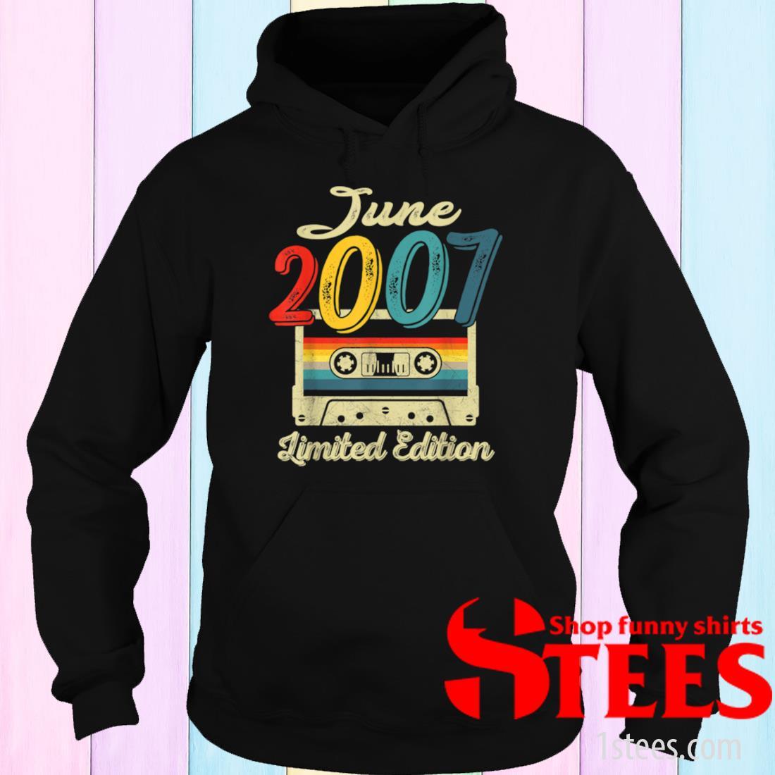 Vintage June 2007 Cassette Tape 14th Birthday Decorations Shirt hoodie