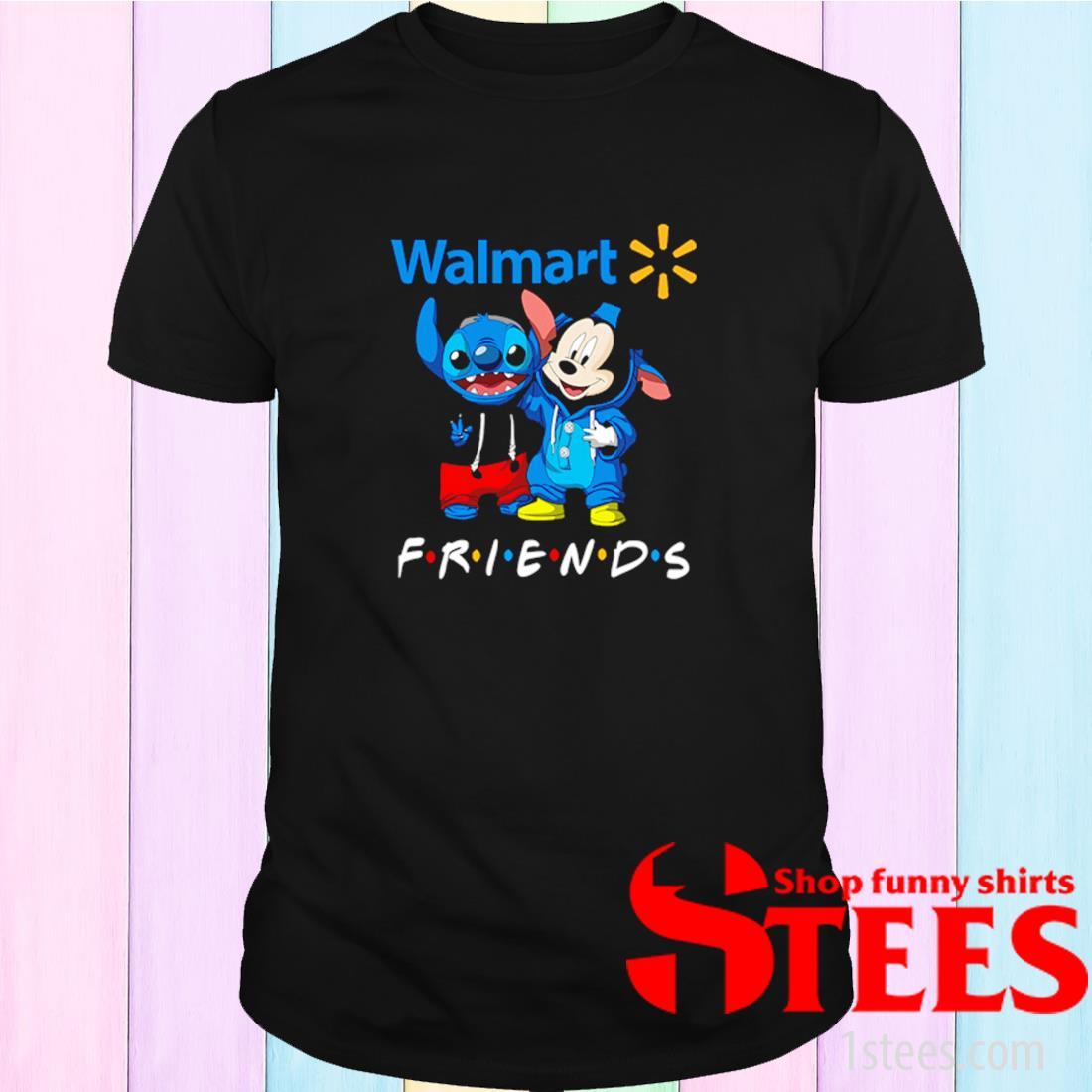 Walmart Stitch And Mickey Friends Shirt