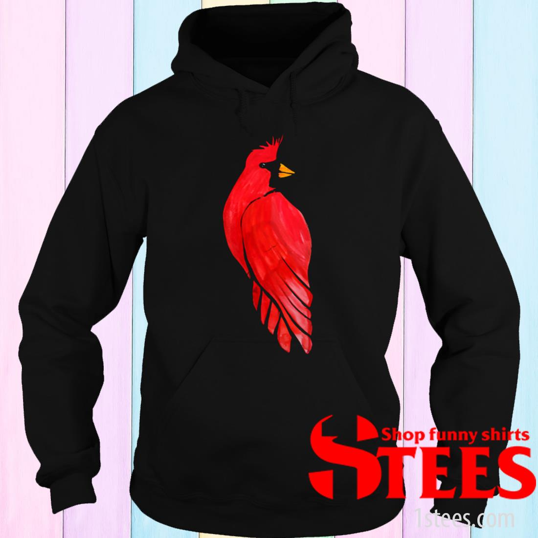 Women's Red Cardinal Bird Watercolor Shirt hoodie