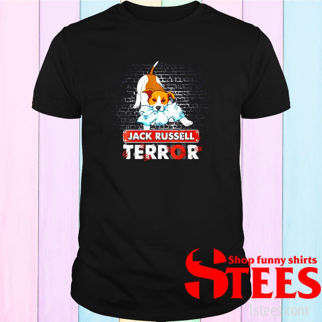 Womens Jack Russell Terror Bad Dogs Jack Russell Terrier Dog Shirt