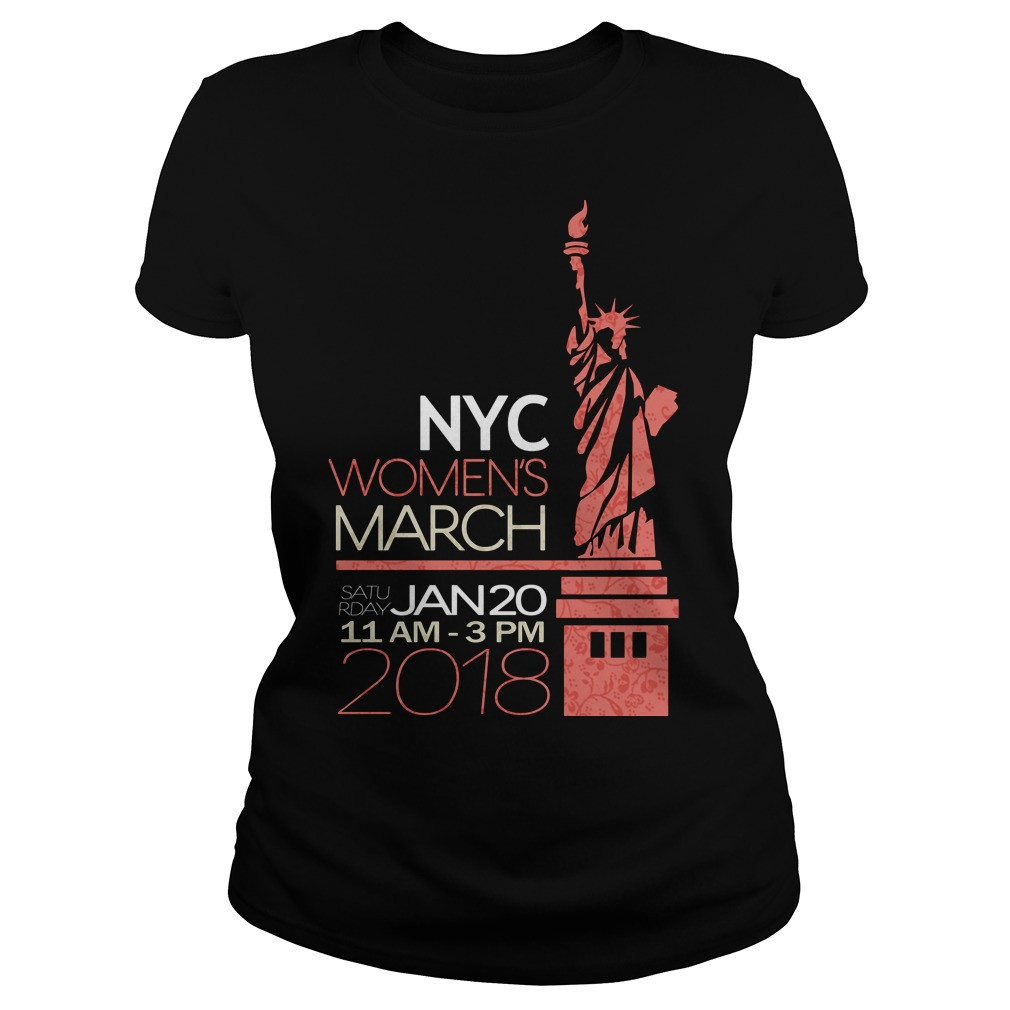 Official NYC women's March ladies shirt