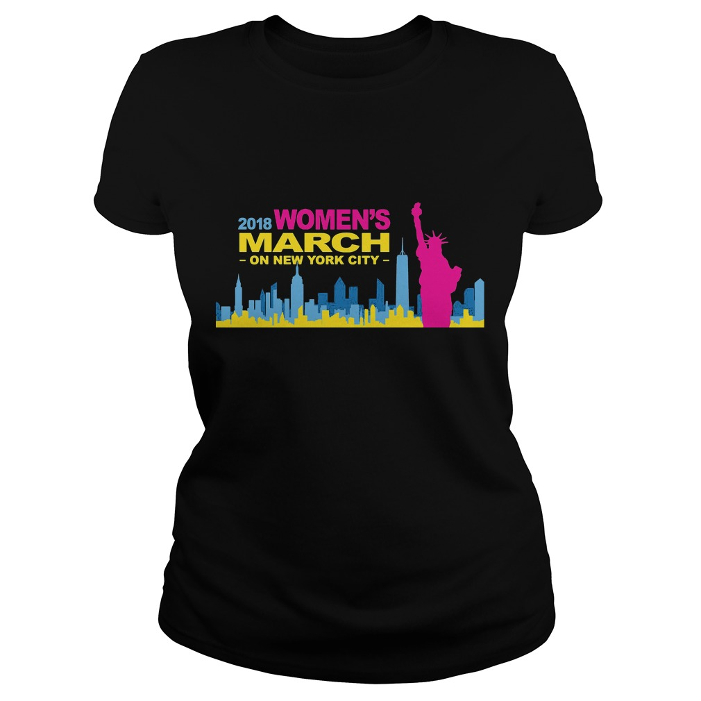 Official Women's March on new york city 2018 ladies shirt