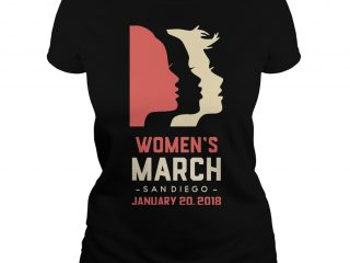 Official Women's March on San Diego 2018 ladies shirt
