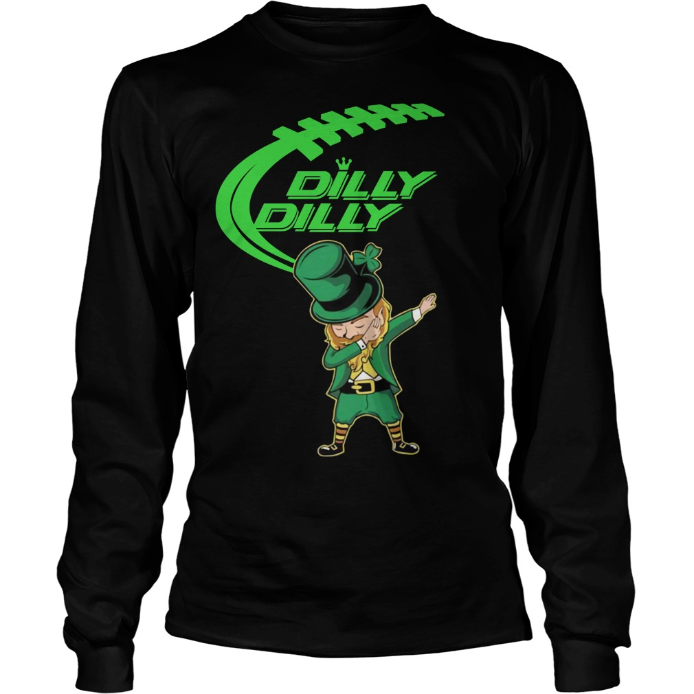 Dilly Dilly Dabechaun Leprechaun dabbing St Patrick's Day Long sleeve