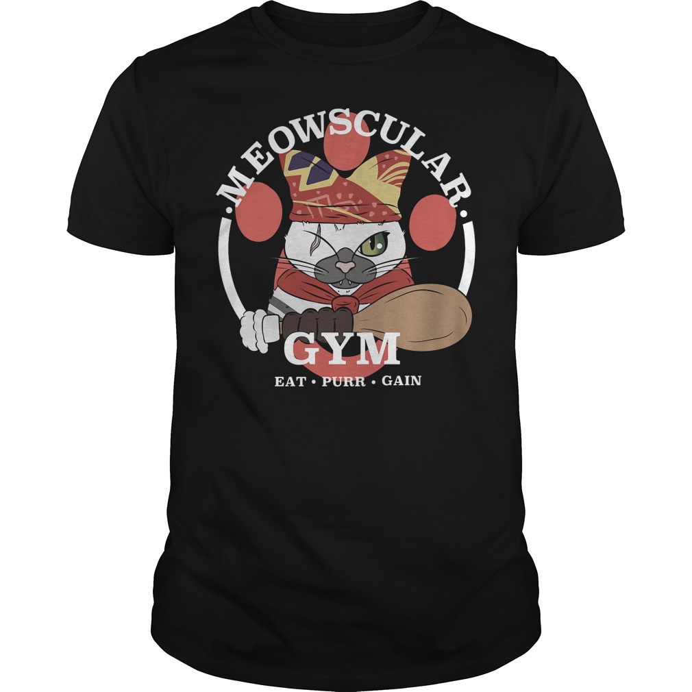 Meowscular Gyms Eat purr gain shirt