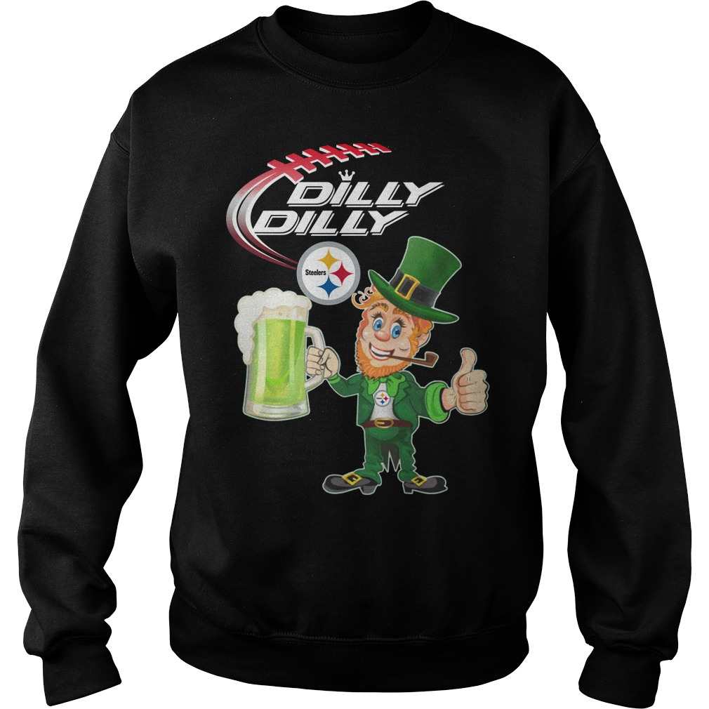 Steelers Dilly Dilly St patrick's day sweater