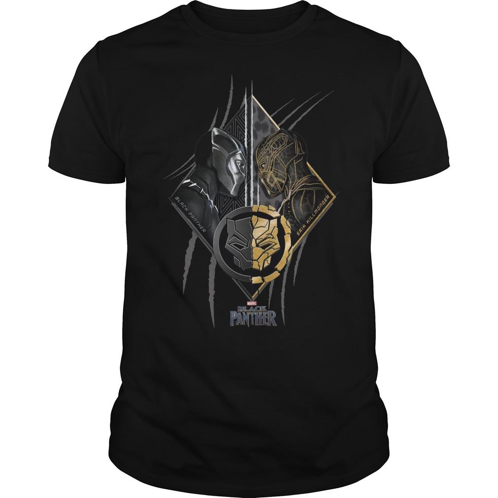 Black panther vs Erik Killmonger marvel shirt