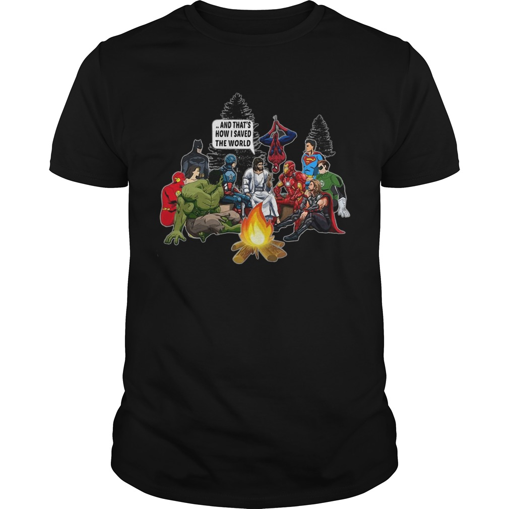 Jesus and Superheroes how to save the world Guys shirt