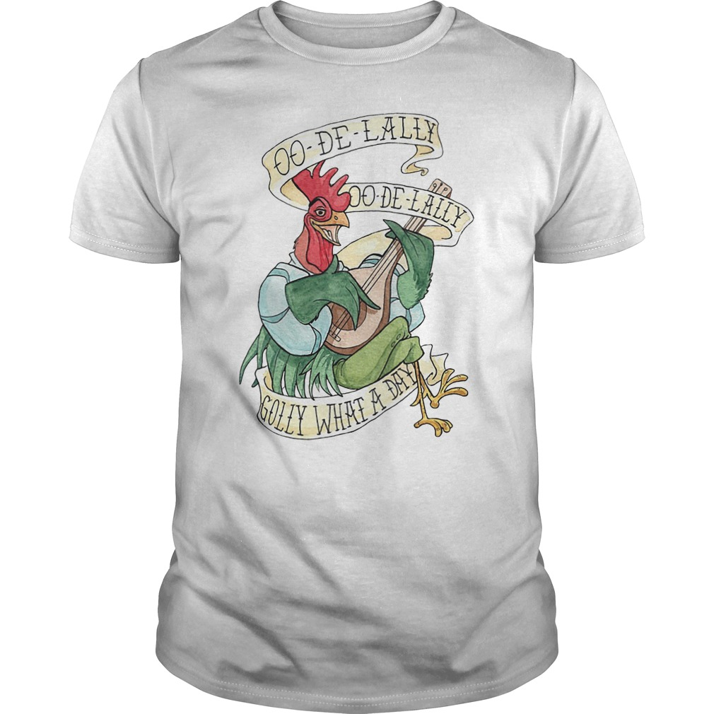 OO-De-Lally golly what a day tattoo watercolor painting Robin Hood shirt