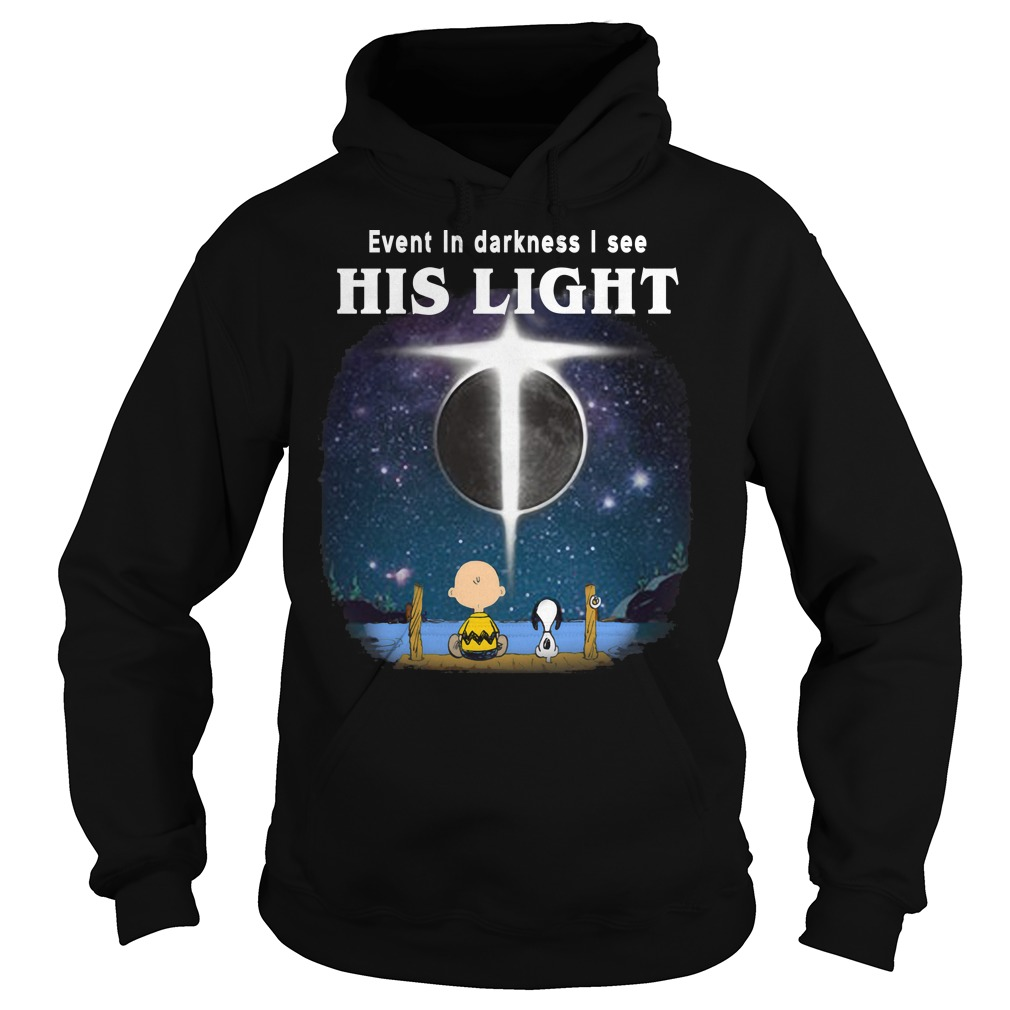 Snoopy and Charlie Brown: Even in darkness I see his light Hoodie