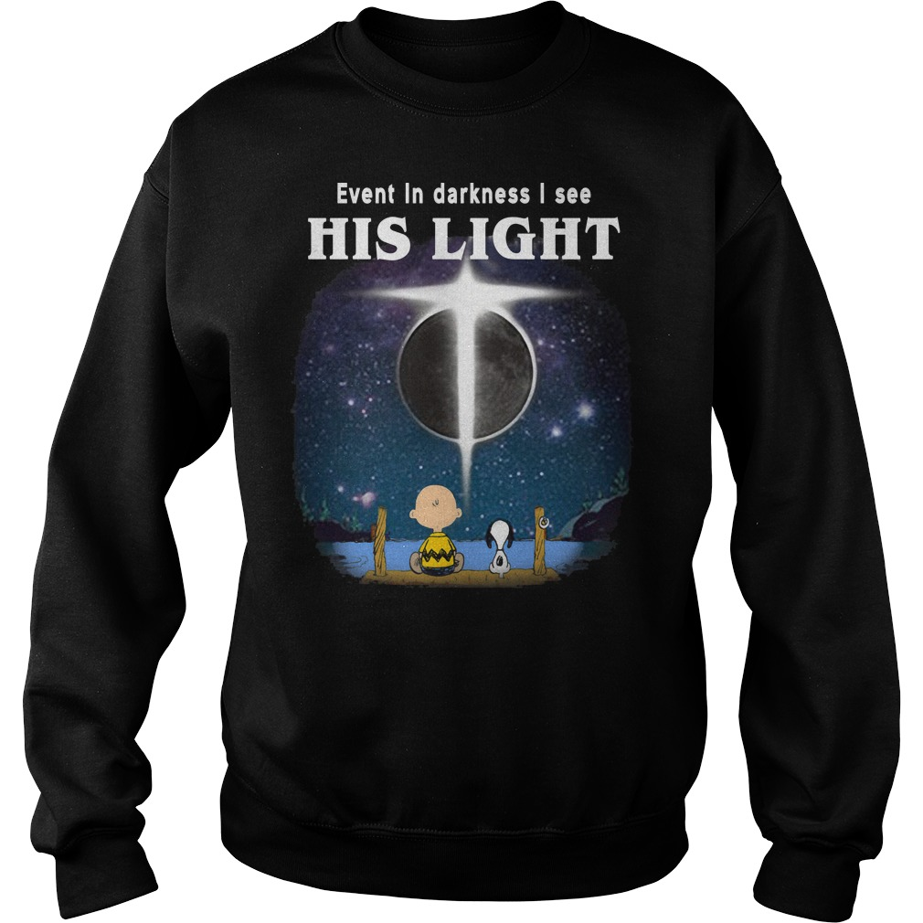 Snoopy and Charlie Brown: Even in darkness I see his light Sweater