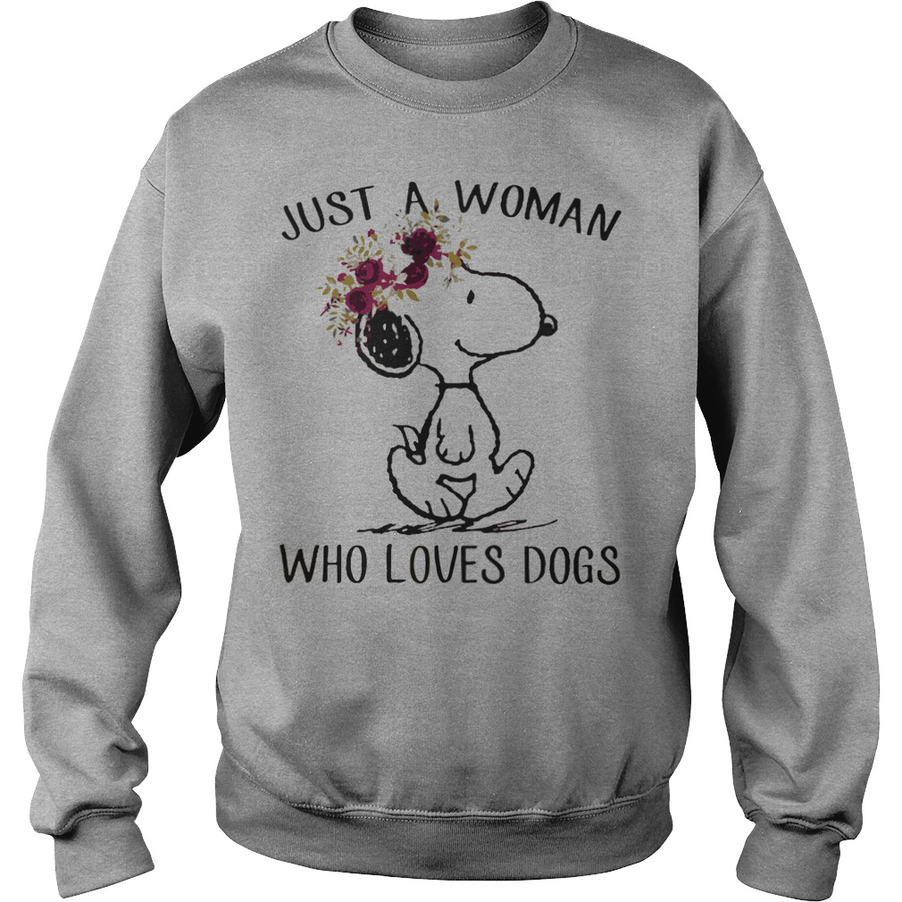 Snoopy: Just a woman who loves dogs Sweater