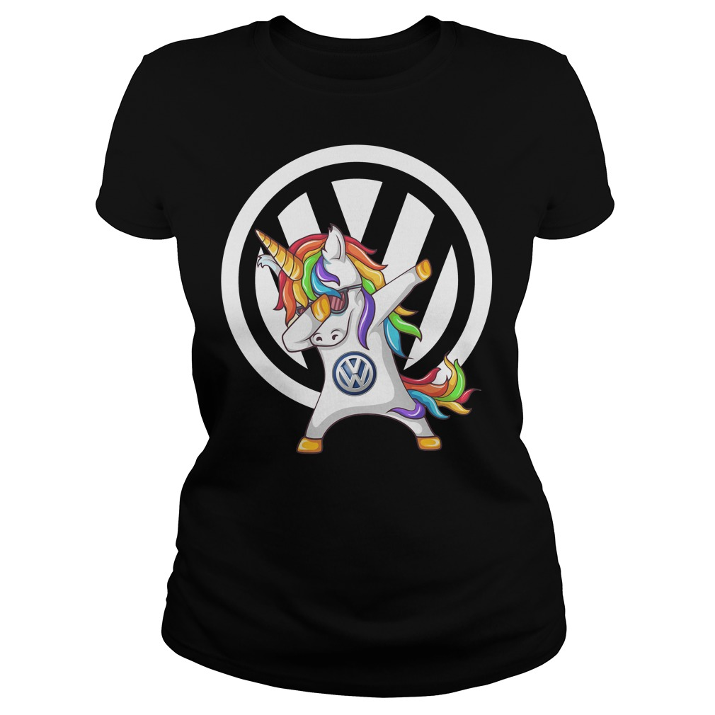Unicorn Dabbing Volkswagen Shirt Ladies t-shirt