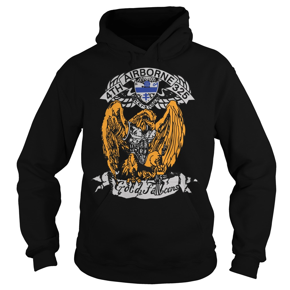 4th 325 Airborne gold Falcon hoodie