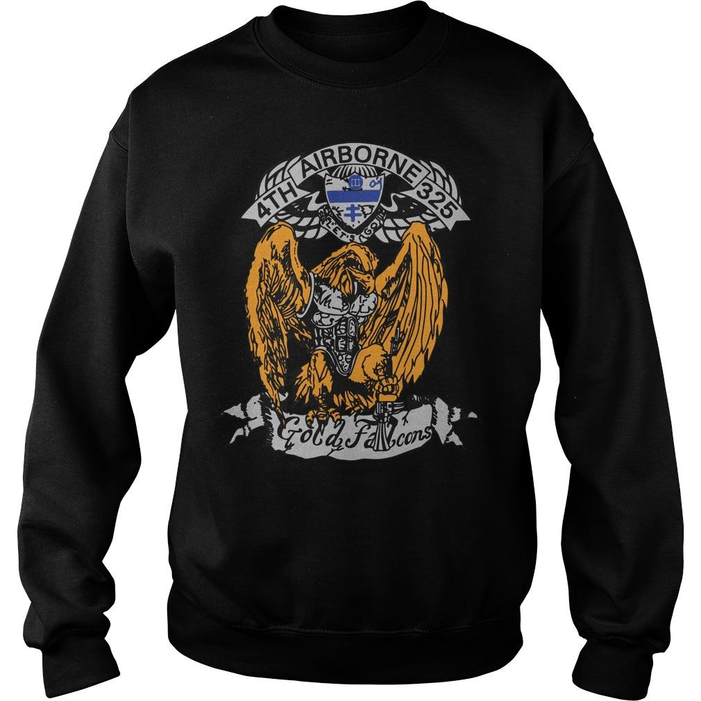 4th 325 Airborne gold Falcon sweater