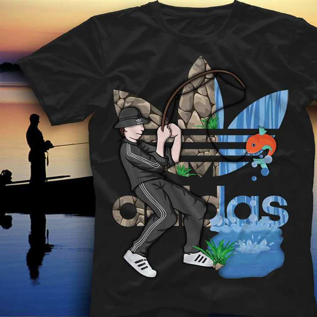 Adidas fishing shirt