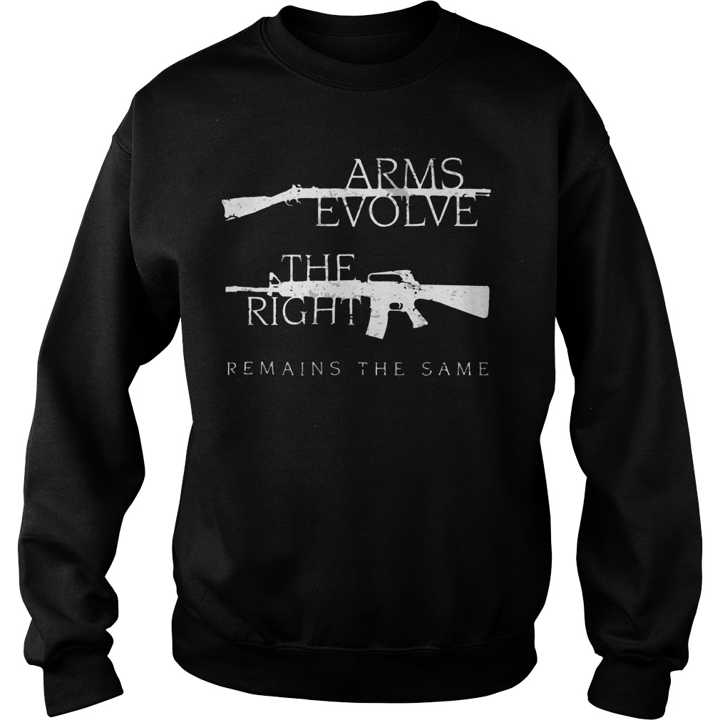 Arms evolve the right remains the same Sweater