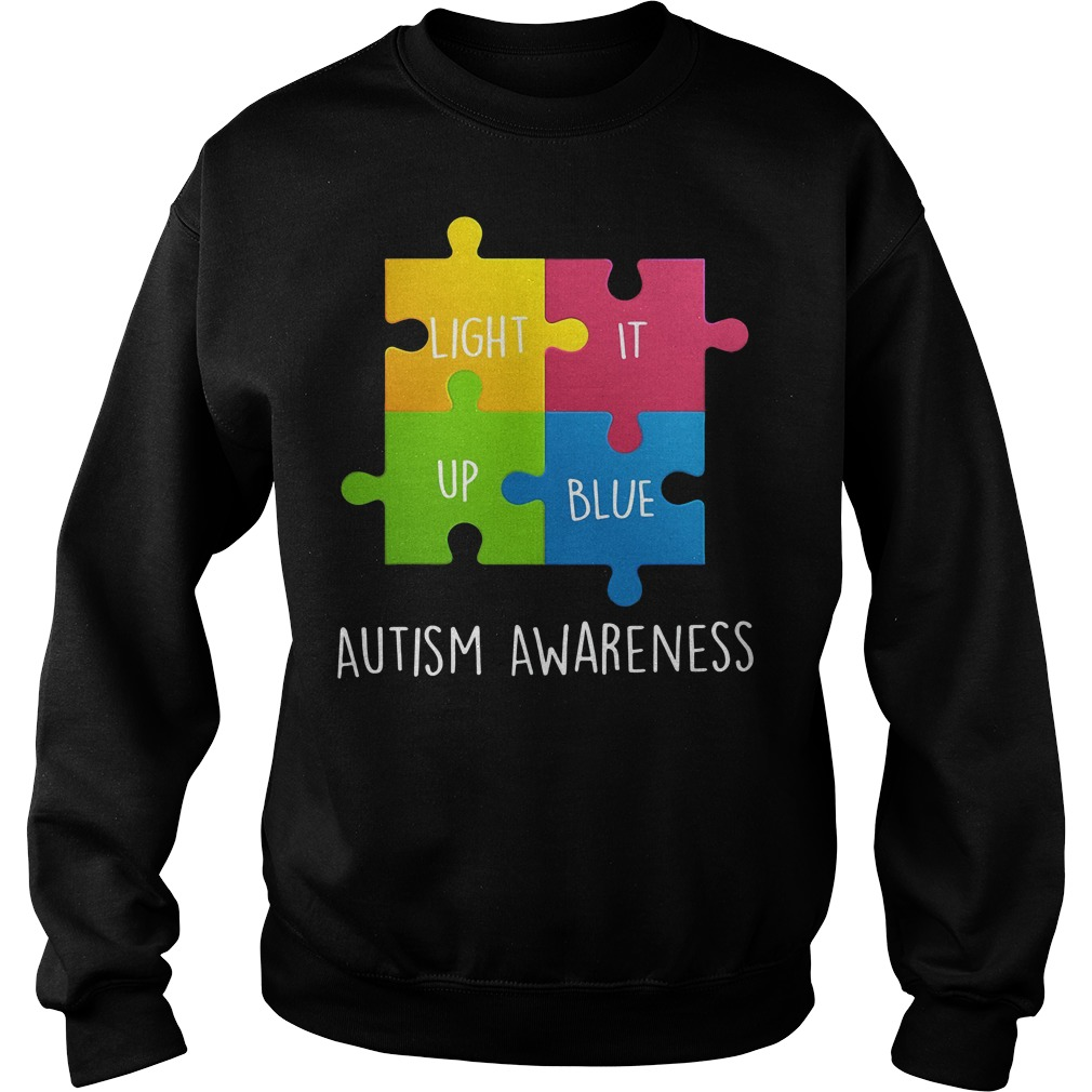 Autism Awareness Light it up Blue Sweater