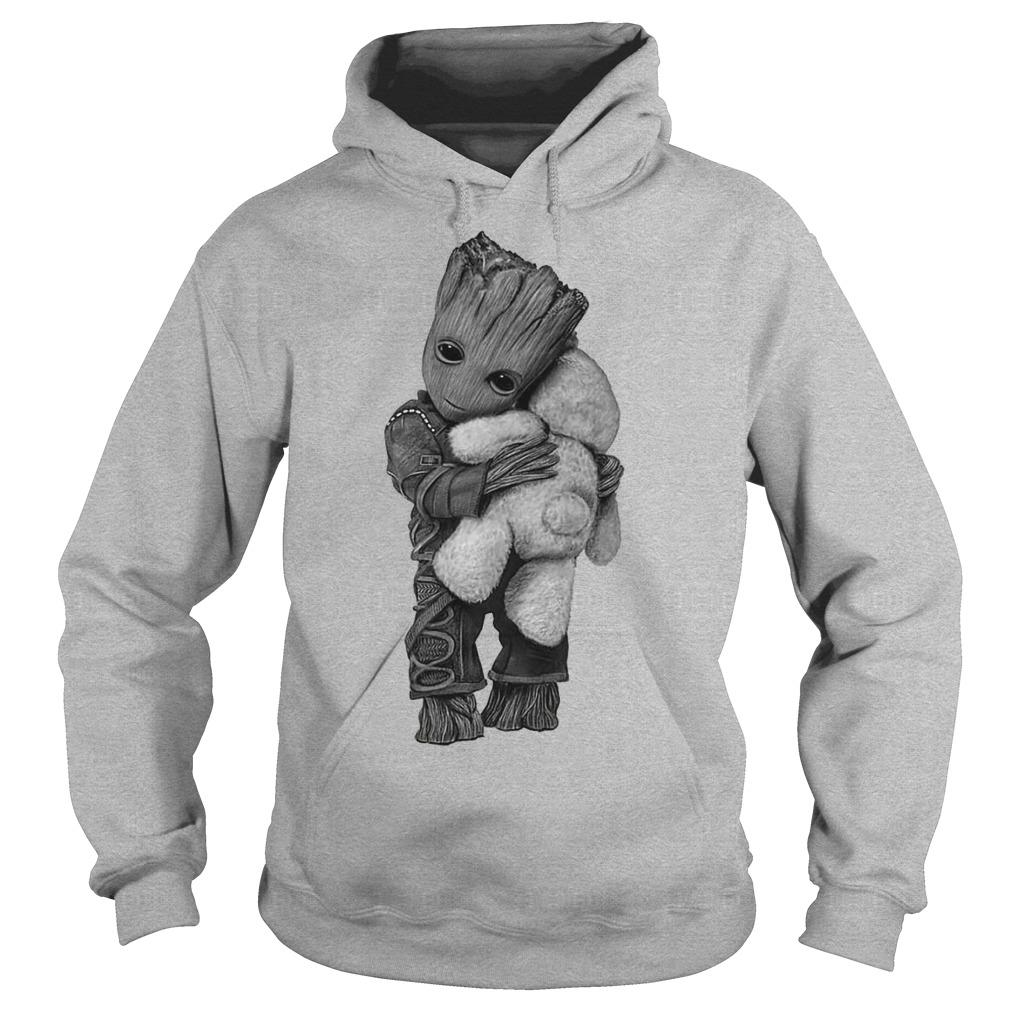 Baby groot hug Teddy Bear hoodie