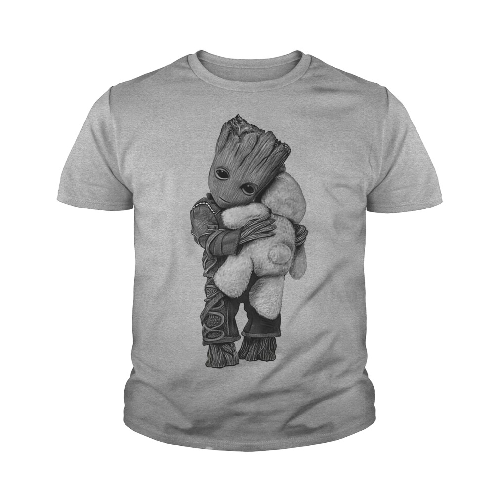 Baby groot hug Teddy Bear youth tee