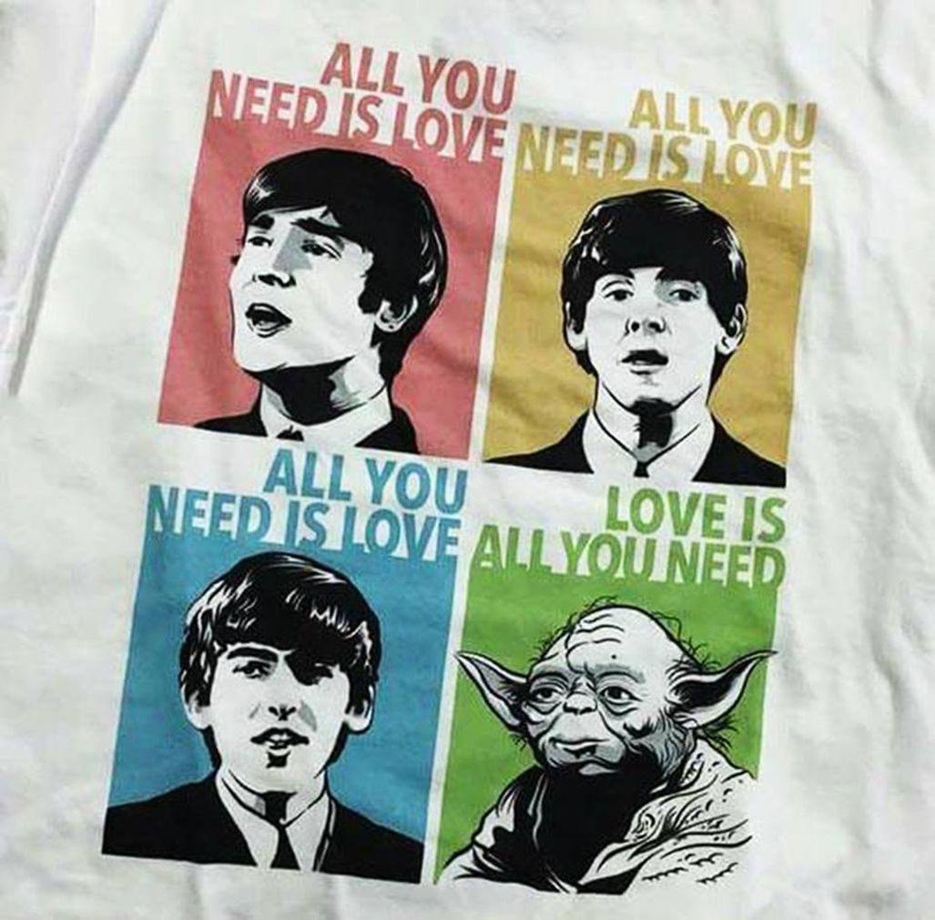 The beatles and Yoda all you need love shirt