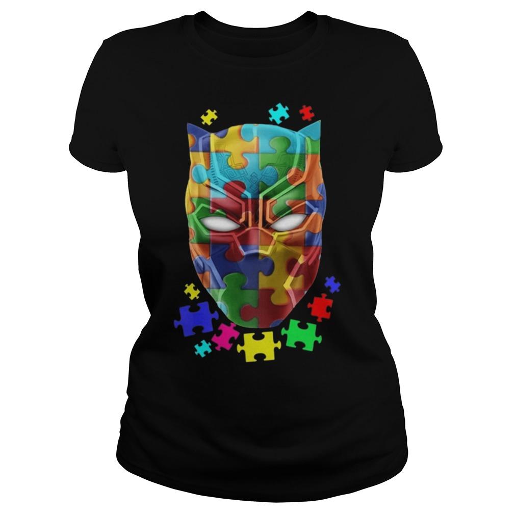 Black panther Autism ladies shirt