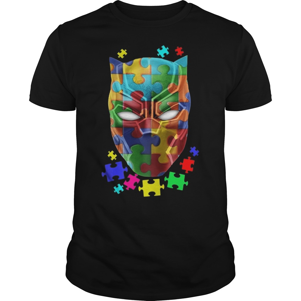 Black panther Autism guys t shirt