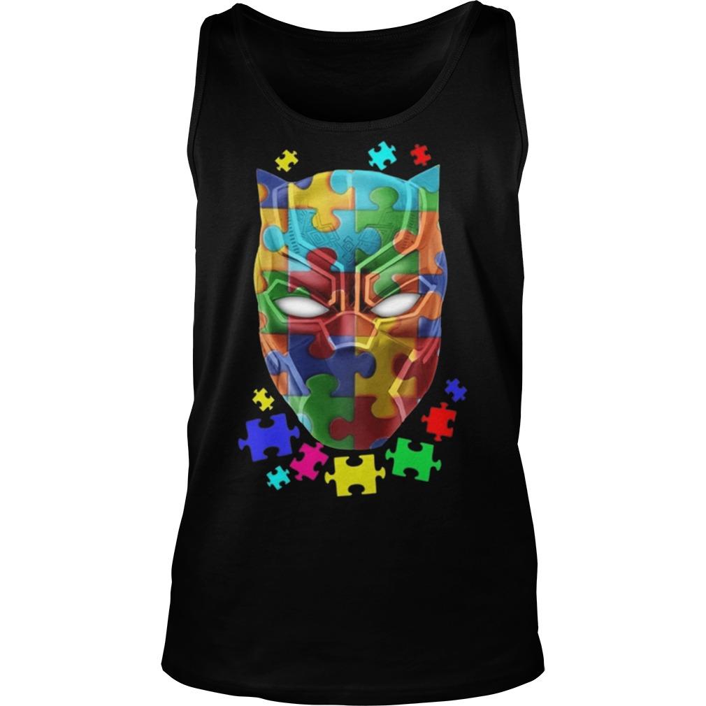 Black panther Autism tank top