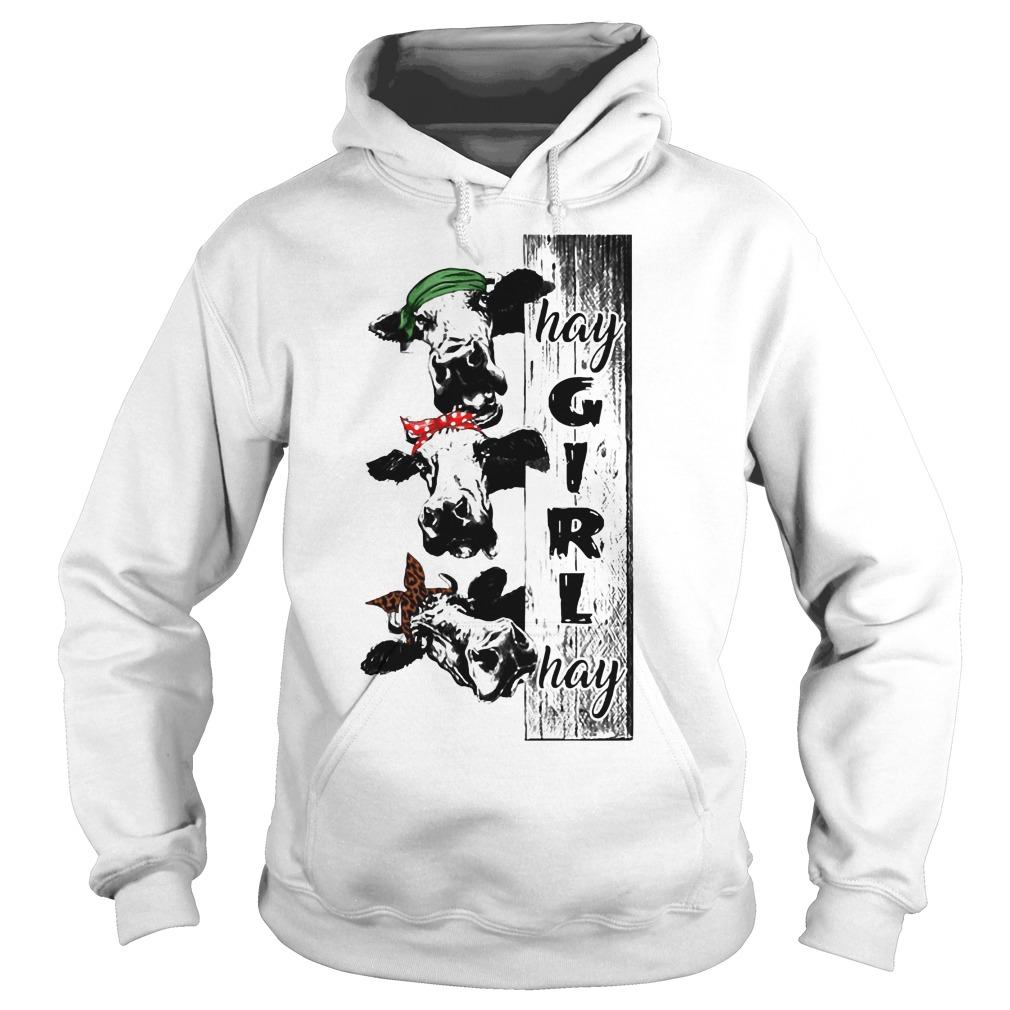 Hay girl hay cow hoodie