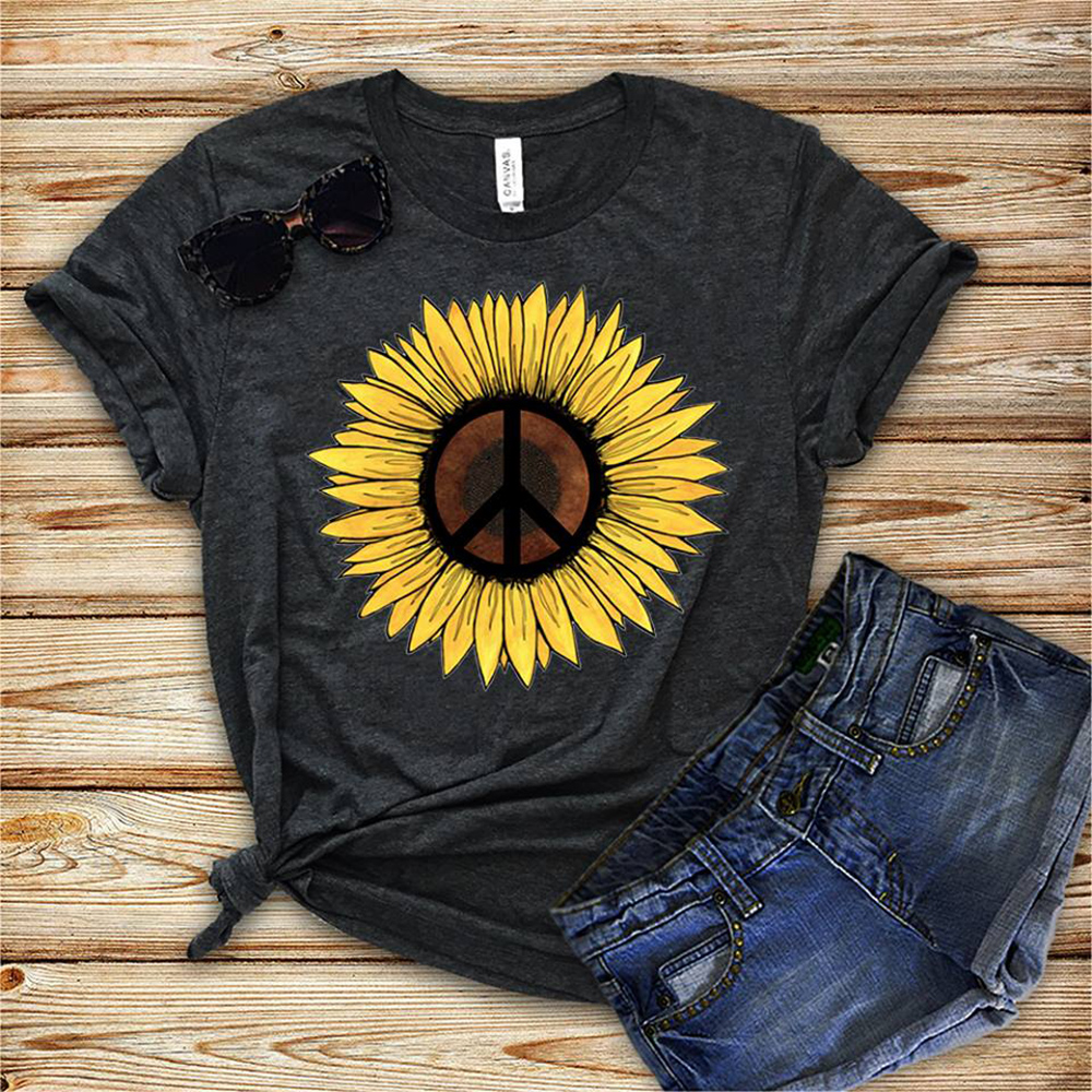 Official Hippie Peace Flower Shirt, Hoodie And Sweater
