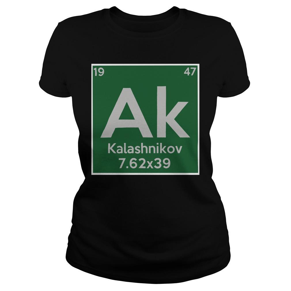 Kalashnikov ak 19 47 7.62x39 ladies shirt